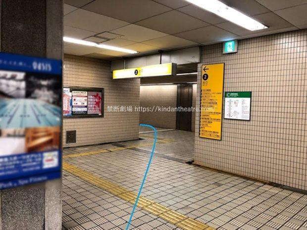 森ノ宮駅2出口へと続く通路