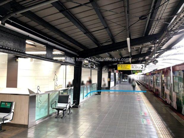 JR森ノ宮駅ホーム